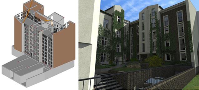 Budynek mieszkalny wielorodzinny oraz przebudowa z nadbudową istniejącej kamienicy